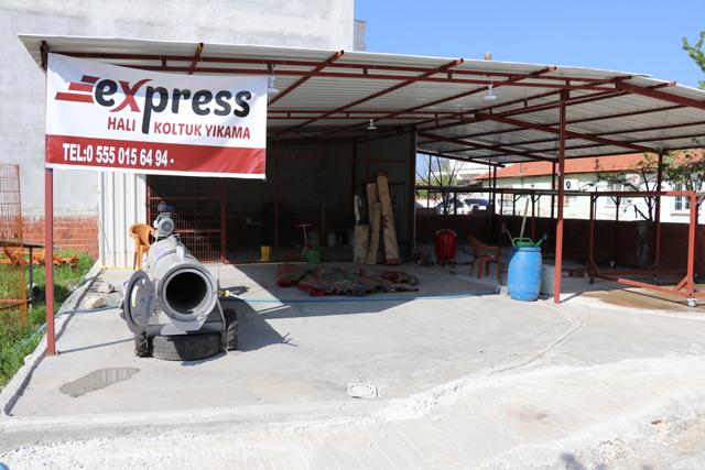 Express halı ve koltuk yıkama hizmete açıldı