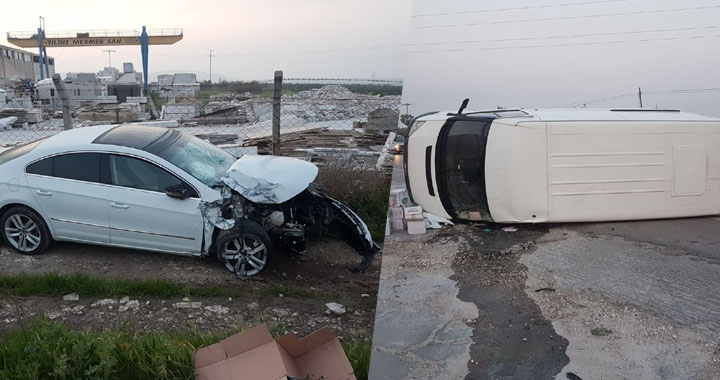 Akhisar Kapaklı'daki feci kaza ucuz atlatıldı