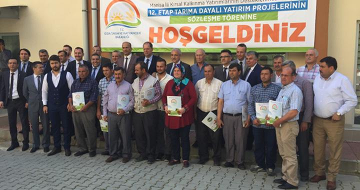 12'nci Etap Tarıma Dayalı Yatırım Projelerinin sözleşme töreni yapıldı