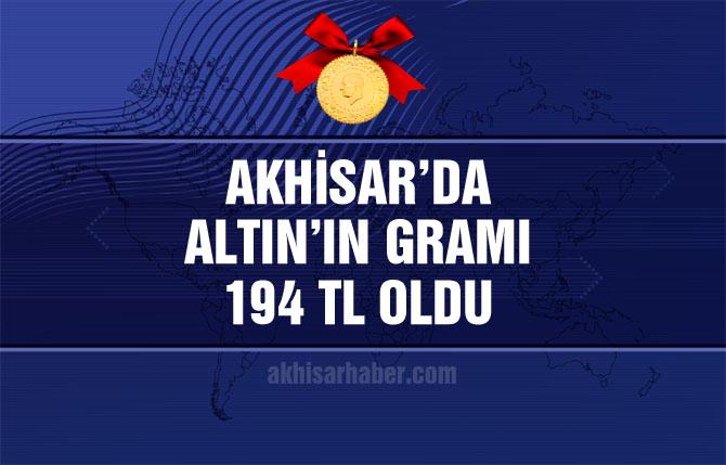 Akhisar'da altının gramı 194 TL'ye çıktı!
