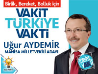 27. Dönem AK Parti Manisa 2.sıra Milletvekili Adayı Uğur Aydemir