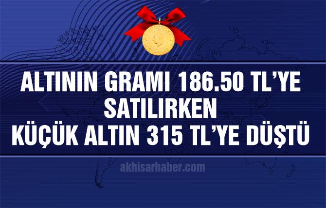 Altının gramı 186 TL'ye düştü! İşte küçük altının son fiyatı