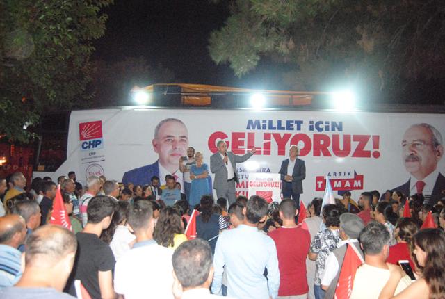 Bakırlıoğlu'na Hacı İshak Mahallesi'nde yoğun ilgi