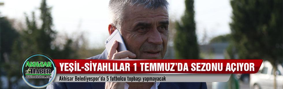 Akhisar Belediyespor'da 5 futbolcu topbaşı yapmayacak