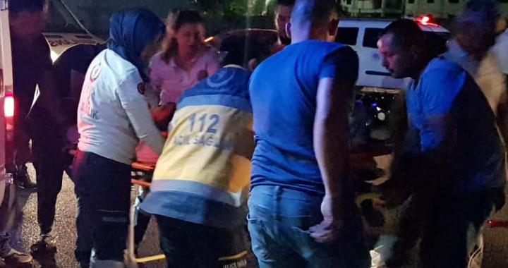 Motosiklet kazası 2 kişi yaralandı