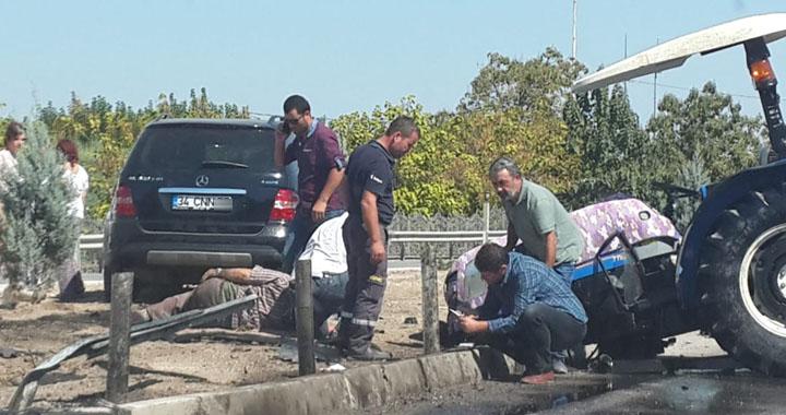 Akhisar feci kaza, Jip traktörü ikiye böldü