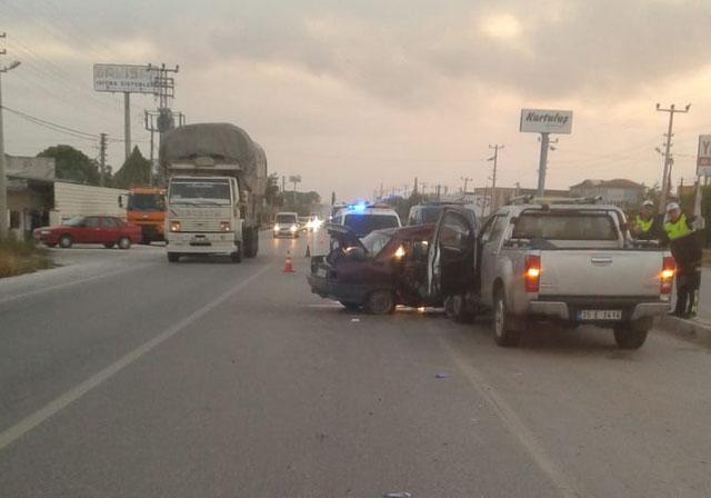 Akhisar'da trafik kazası 1 kişi hayatını kaybetti