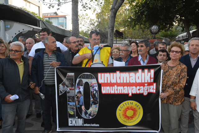 Ankara katliamını basın açıklamasıyla andılar