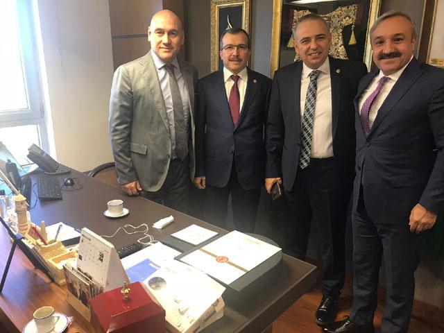 Ulusoy ve Alhat, zeytin için Ankara'da