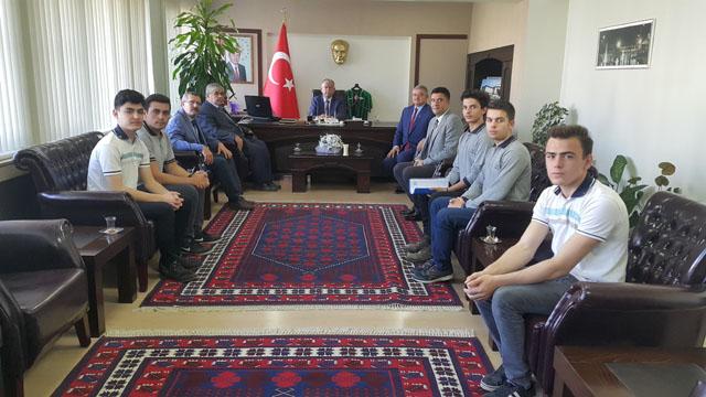 Kayhan Ergun MTAL Kaymakam Sabit Kaya'yı ziyaret etti