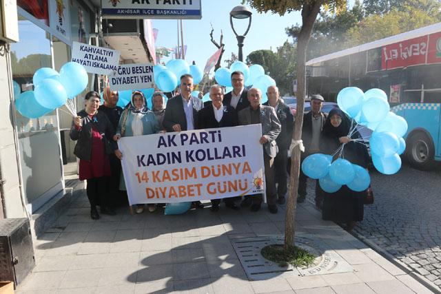 AK Parti Akhisar İlçe Kadın Kollarından diyabet farkındalığı