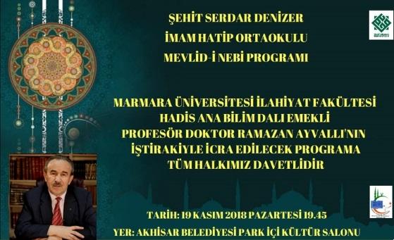 Konferansa Davet Mevlid-i Nebi Programı