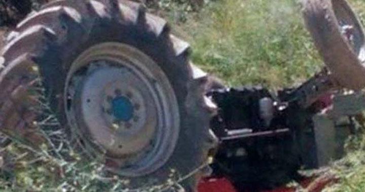 Akhisar'da traktör kazası 1 kişi hayatını kaybetti