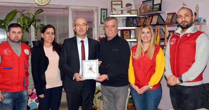 İlçe Spor Müdürü Oktay, gazeteciler günümüzü kutladı