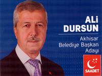 Saadet Partisi Akhisar Belediye Başkan Adayı Ali Dursun