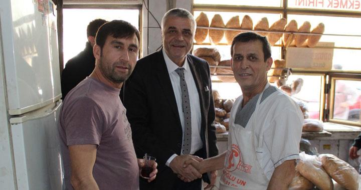 Cumhur ittifakı adayı Hüseyin Eryüksel, Reşatbey'de esnafı ziyaret etti