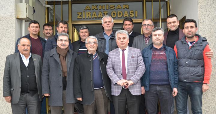Akhisar Esnaf Odaları'ndan Ahmet Akbuğa'ya tebrik ziyareti