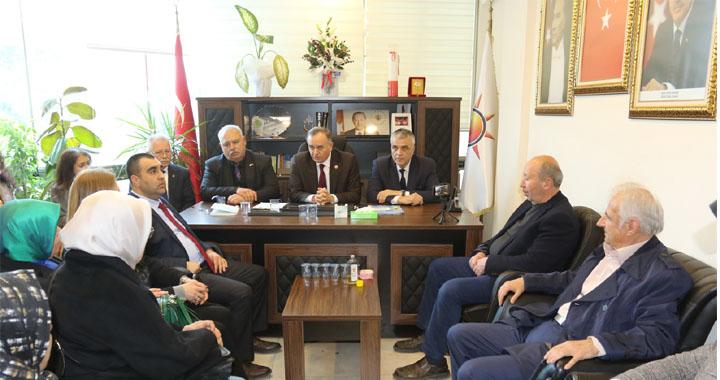 Mhp Milletvekili Akçay'dan, Cumhur ittifakı Adayı Eryüksel'e ziyaret