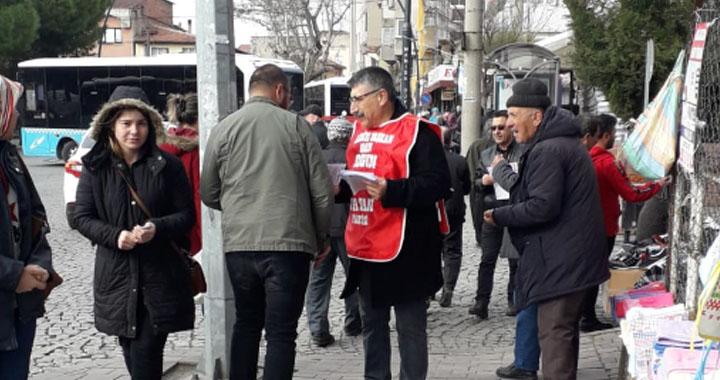 Vatan Partisi, seçim bildirgesini çarşı ve pazarda dağıttı