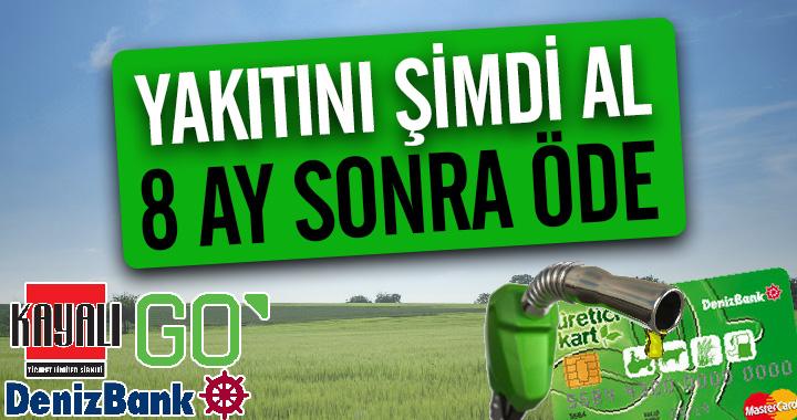 GO Kayalı Akaryakıt'ta çiftçilere özel kampanya