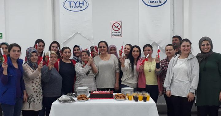 TYH Tekstil Gıdacılar şubesi İşkur 10. grup mezunlarını verdi