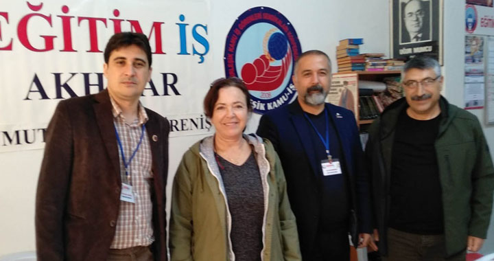 Vatan Partisi Belediye Başkan Adayı Ergun Karakaşlar, Eğitim-İş Şubesini ziyaret etti