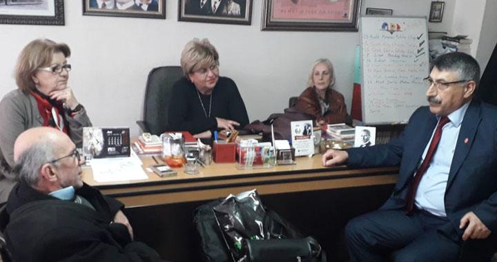 Ergun Karakaşlar, Atatürkçü Düşünce Derneği' ni ziyaret etti