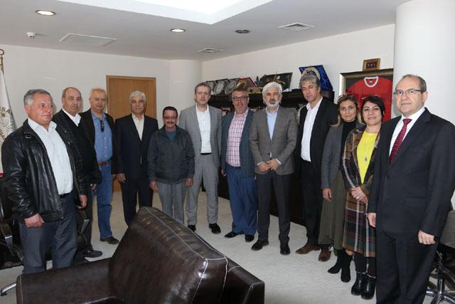 Akhisar Kahveciler Odasından, Belediye Başkanı Salih Hızlı'ya ziyaret