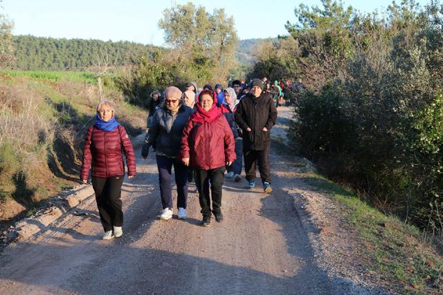 Doğa yürüyüşünün 23.hafta parkuru da Muştullar parkuru oldu