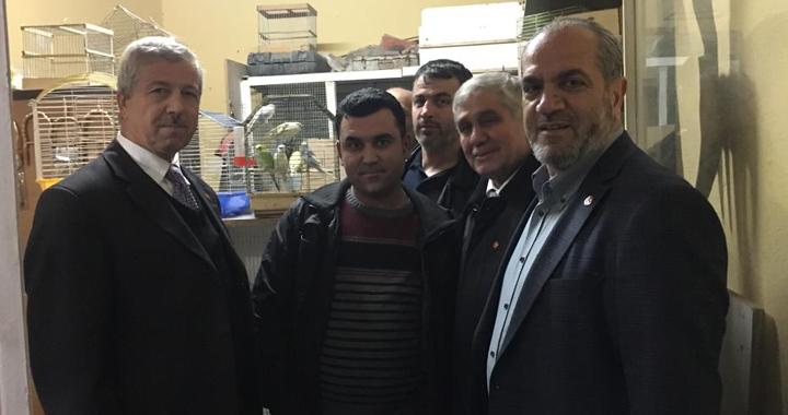 Ali Dursun, Kırbağlar esnafını ziyaret etti