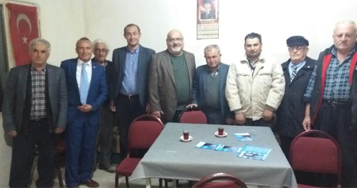 DSP'li adaylardan esnaf ve kıraathane ziyaretleri