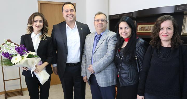 Mimarlar Odasından, Belediye Başkanı Besim Dutlulu'ya ziyaret