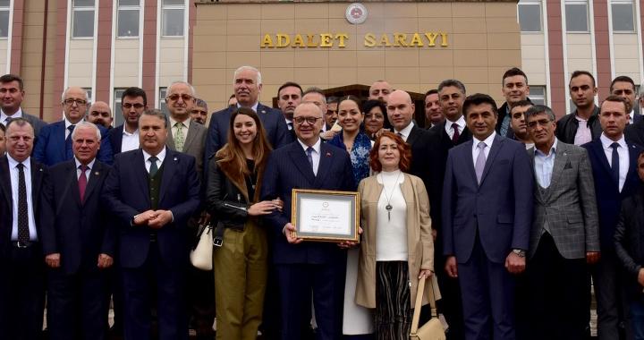 Başkan Ergün'ün 3'üncü hizmet dönemi başladı