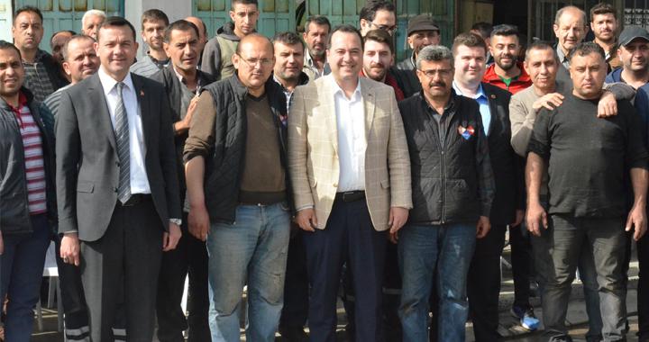 Belediye Başkanı Besim Dutlulu, sanayi esnafı ile buluştu