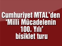 Cumhuriyet MTAL'den 'Milli Mücadelenin 100. Yılı' bisiklet turu