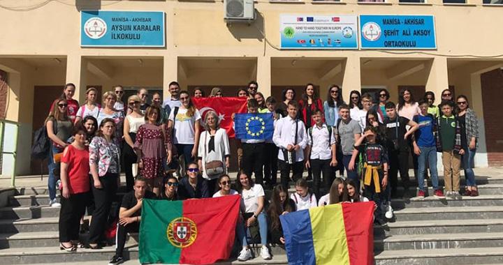 Şehit Ali Aksoy Ortaokulu'nda Erasmus coşkusu