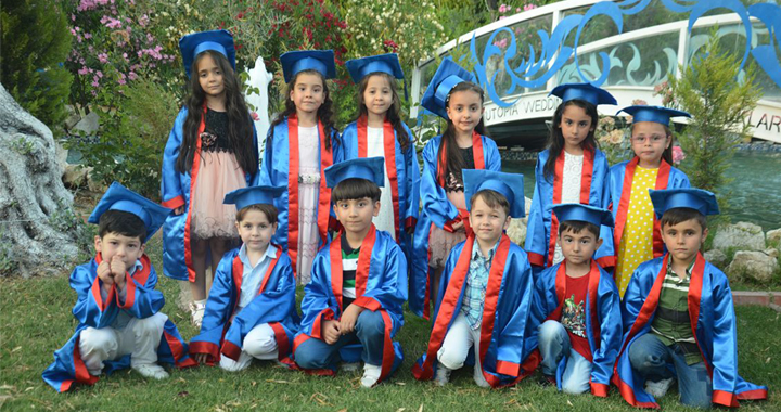Necdi Şentürk Anaokulunun mezuniyet coşkusu