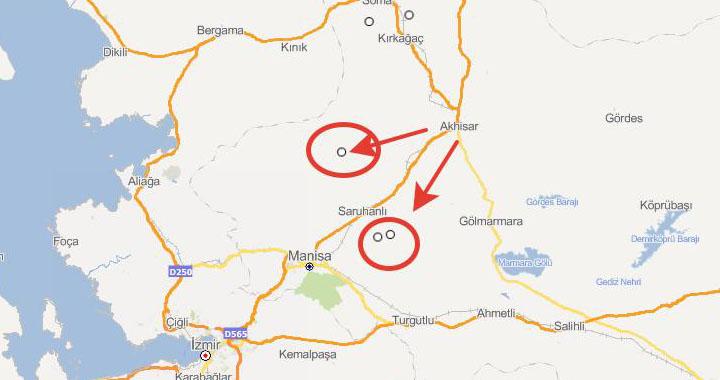 Saruhanlı ve Akhisar arasında art arda deprem