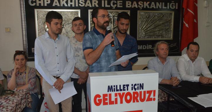 CHP Akhisar İlçe Teşkilatından Sivas katliamı açıklaması