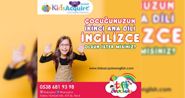 Akhisar'da İngilizce konuşamayan çocuk kalmasın!