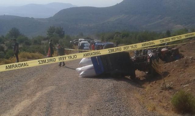 Akhisar'da traktör kazası 1 ölü