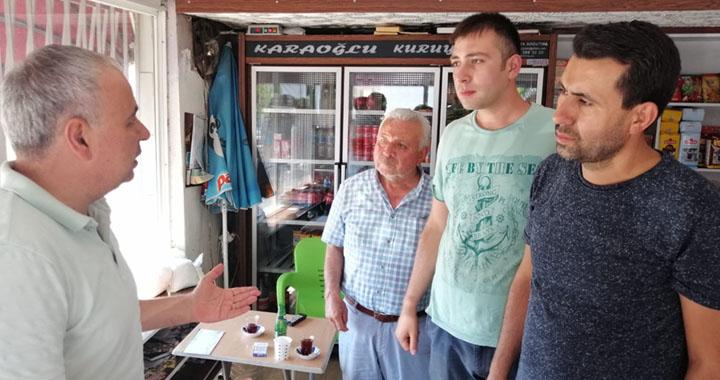 Ahmet Vehbi Bakırlıoğlu, Akhisar merkez çarşı inşaatını inceledi