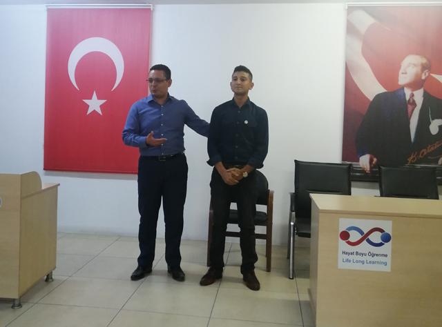 El-Bab Gazimiz Ömer Kayhan, 6 Eylül'de Halk Eğitim'e konuk oldu