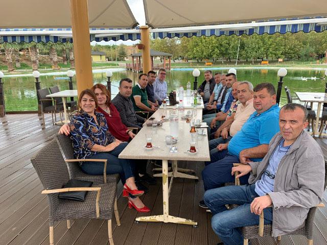 Kahveciler Federasyonu Başkanı Ağaoğlu, Erkin Güney'i ziyaret etti