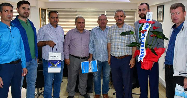 Mermerciler Kooperatifinden, Tahsin Arslan'a ziyaret
