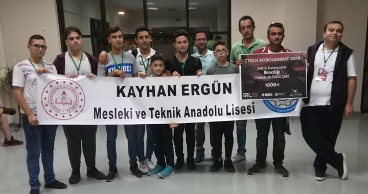 Akhisar Kayhan Ergün MTAL Robot kulübü ikinci oldu