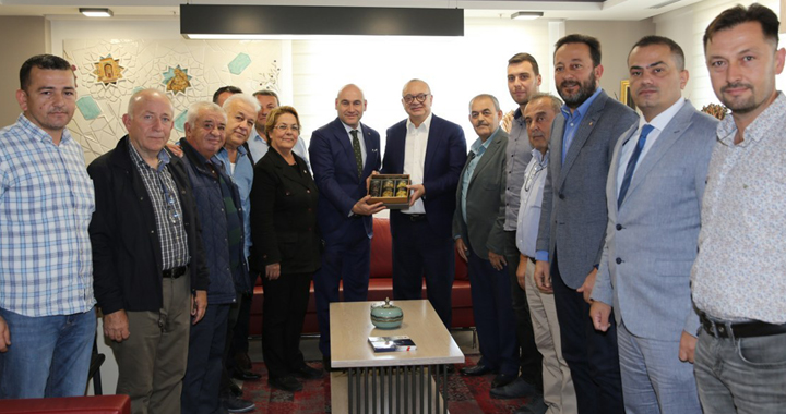 Zeytin Diyarından Başkan Ergün'e ziyaret