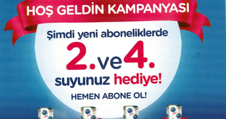 Nestle Pure Life sularında hoş geldin kampanyası