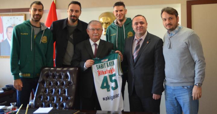 Akhisar Belediye Basketbol takımından protokol ziyaretleri