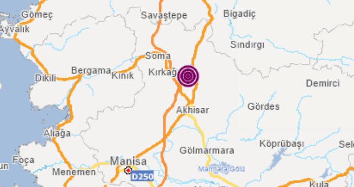 Akhisar güne yine iki büyük artçı depremle uyandı